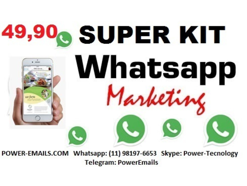 Super Mega Kit Whatsapp Marketing Envios Em Massa 2018