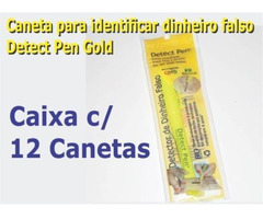Cx 12 canetas testar dinheiro falso
