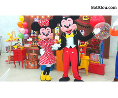 Mickey e Minnie cover Personagens vivos festas infantil animação