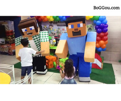 Minecraft Cover personagens vivos festas infantil