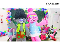 Trolls cover personagens vivos animacao festas infantil